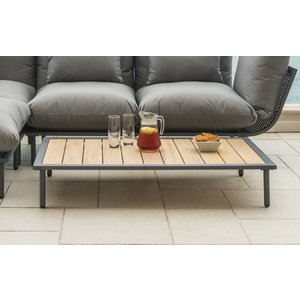 Alexander Rose Beach Lounge Flint Coffee Table With Roble Top