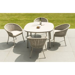 Alexander Rose Cordial Beige 120cm Dining Table With Sand Hpl Top, Sand and Beige