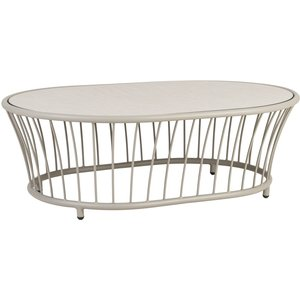 Alexander Rose Cordial Beige Oval Coffee Table With Sand Hpl Top