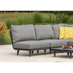Alexander Rose Cordial Luxe Dark Grey Mid Module With Cushion, Dark Grey