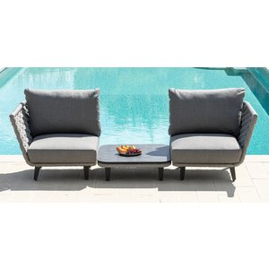 Alexander Rose Cordial Luxe Light Grey Corner Module With Cushion, Light Grey