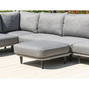 Alexander Rose Cordial Luxe Light Grey Ottoman With Cushion, Light Grey