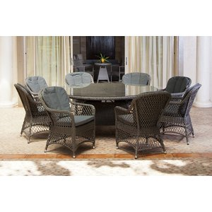 Alexander Rose Monte Carlo 180cm Round Dining Table With Glass, Grey