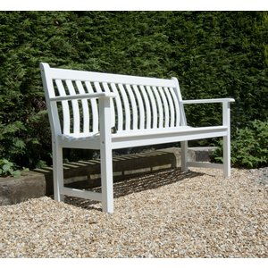 Alexander Rose New England White Painted Broadfield Bench 5ft, White Painted
