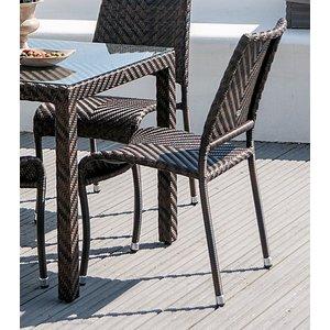 Alexander Rose Ocean Fiji Stacking Dining Chair (pair), Bronze