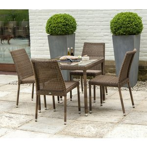 Alexander Rose San Marino 80cm Square Dining Table And 4 Chair