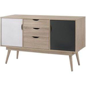 Timber Art Design Uk Alford Sonoma Oak And Dark Grey Sideboard