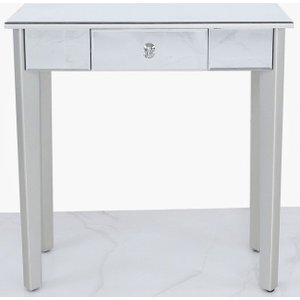 Deco Home Allegan Console Table - Mirrored And Silver Painted