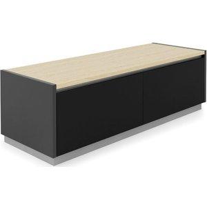 Alphason Designs Alphason Horizon Black And Light Oak Tv Stand For 55inch - Adho1200-lo, Black and Light Oak