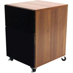 Alphason Designs Alphason Juo Pedestal Desk - Black And Walnut Alt63222-p-w