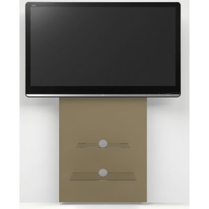 Alphason Designs Alphason Mercury Paintable Raw Mdf Slimline Wall Mounted Tv Stand W 60cm x D 10cm x H 140cm