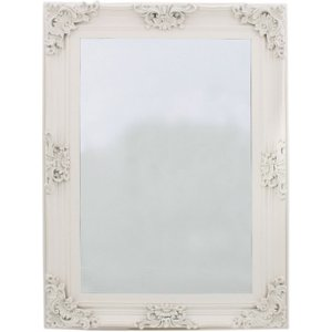 Deco Home Amaris Ivory Rectangular Wall Mirror - 84cm X 113.5, Ivory