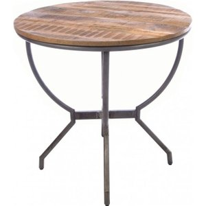 Ancient Mariner Furniture Ancient Mariner Old Empire Mango Wood Round Dining Table
