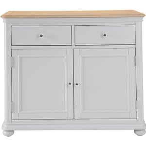Scuttle Interiors Annecy Oak And Soft Grey Painted 2 Door 2 Drawer Sideboard
