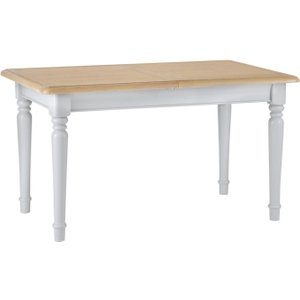 Scuttle Interiors Annecy Small Extending Dining Table - Oak And Soft Grey Painted, Soft Grey Painted