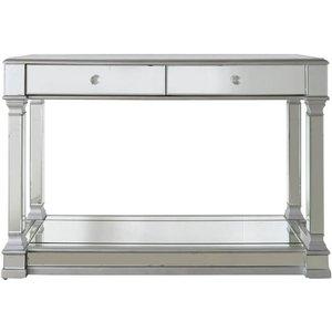 Deco Home Antrim Silver Mirrored Console Table