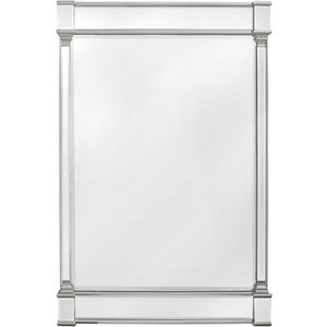 Deco Home Antrim Silver Rectangular Wall Mirror - 120cm X 4.4cm, Silver