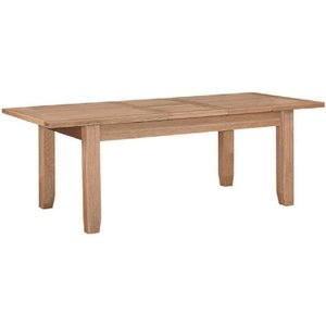 House Brands Appleby Oak Rectangular Extending Dining Table - 180cm-230cm, Satin Wax