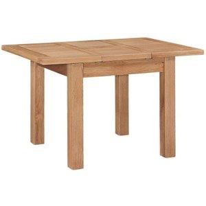 House Brands Appleby Oak Rectangular Extending Dining Table - 90cm-130cm, Satin Wax