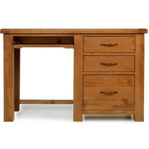 Hermitage Furniture Arles Oak Desk With Filing Cabinet