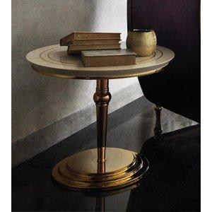 Arredoclassic Adora Sipario Italian Cream End Table - 65cm, Cream
