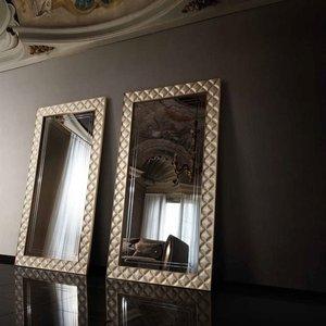 Arredoclassic Adora Sipario Italian Cream Rectangular Mirror, Cream