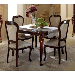Arredoclassic Donatello Brown Italian 118cm-158cm Square Extending Dining Table, Brown