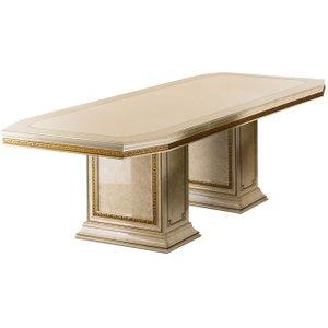 Arredoclassic Leonardo Golden Italian 200cm-300cm Rectangular Extending Dining Table, Golden