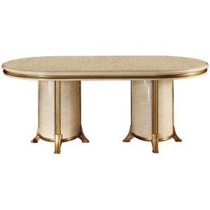 Arredoclassic Melodia Golden Italian 200cm-300cm Oval Extending Dining Table, Golden
