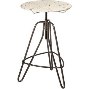 Premier Housewares Artisan Cream Metal Lamp Table
