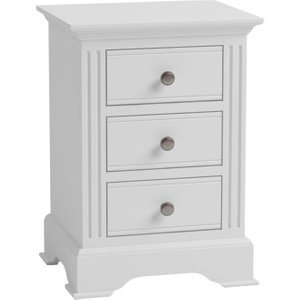 Scuttle Interiors Ashby White Painted Bedside Cabinet, White Painted