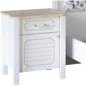 Minturk Askern White Bedside Cabinet