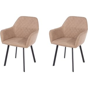 Cfs Value Aspen Sand Fabric Armchair With Black Metal Legs (pair), Sand
