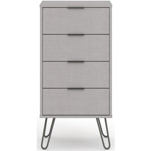 Cfs Value Augusta Grey 4 Drawer Narrow Chest, Grey