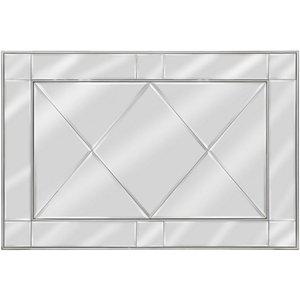 Deco Home Bari Silver Wall Mirror - 130cm X 90cm, Silver Trim