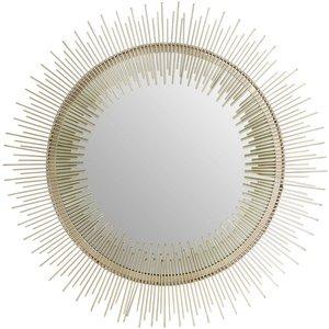 Luxe Interiors Barnet Pewter Spoke Wall Mirror, Silver