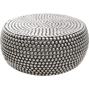 Luxe Interiors Barnet Silver Beaded Coffee Table, Silver