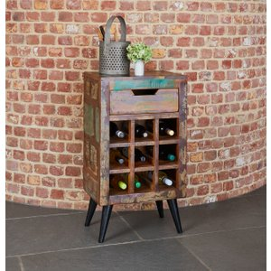 Baumhaus Furniture Baumhaus Coastal Chic Lamp Table With Wine Rack