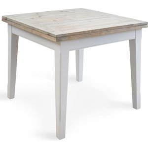 Baumhaus Furniture Baumhaus Signature Grey Painted Square Extending Dining Table, Grey Painted