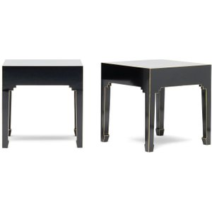 Baumhaus Furniture Baumhaus The Nine Schools Qing Chinese Black And Gilt Lamp Table (pair)