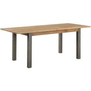 Baumhaus Furniture Baumhaus Urban Elegance Reclaimed Wood Extending Dining Table, Satin Lacquer