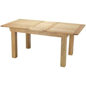 Hermitage Furniture Bayford Oak Small Extending Dining Table, Natural Matt Lacquer