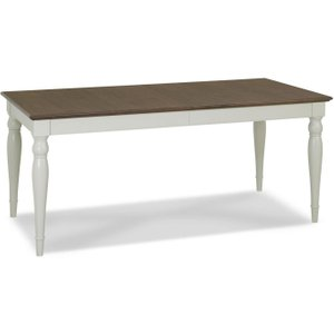 Bentley Designs Hampstead Soft Grey And Walnut Rectangular Extending Dining Table - 180cm-, Soft Grey and Walnut