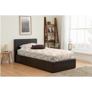Birlea Furniture Birlea Berlin Brown Faux Leather Ottoman Bed, Brown