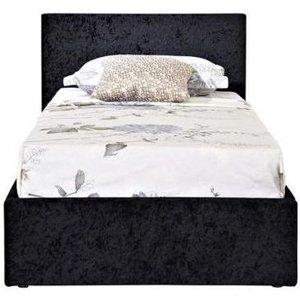 Birlea Furniture Birlea Berlin Ottoman Black Crushed Velvet Fabric Bed