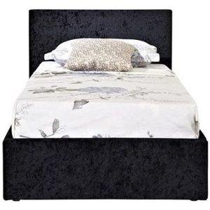 Birlea Furniture Birlea Berlin Ottoman Black Crushed Velvet Fabric Bed, Black