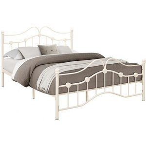Birlea Furniture Birlea Canterbury Cream Metal Bed, Cream