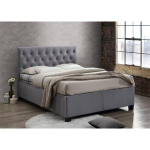 Birlea Furniture Birlea Cologne Grey Fabric Ottoman Bed, Grey