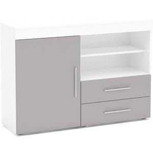 Birlea Furniture Birlea Edgeware Sideboard - White And Grey
