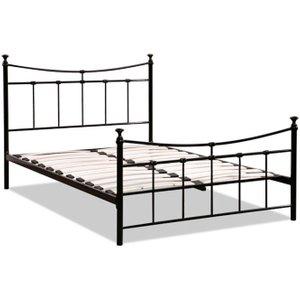 Birlea Furniture Birlea Emily Black Metal Bed, Black